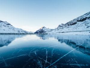 ice fishing lake